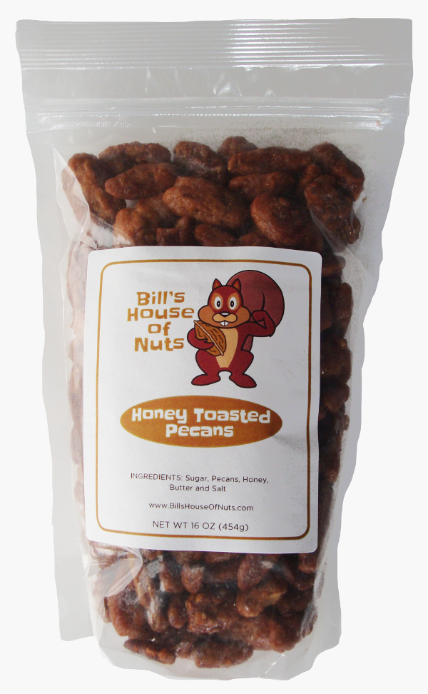 Pecans, Honey Toasted - 8oz 16oz 28oz bags