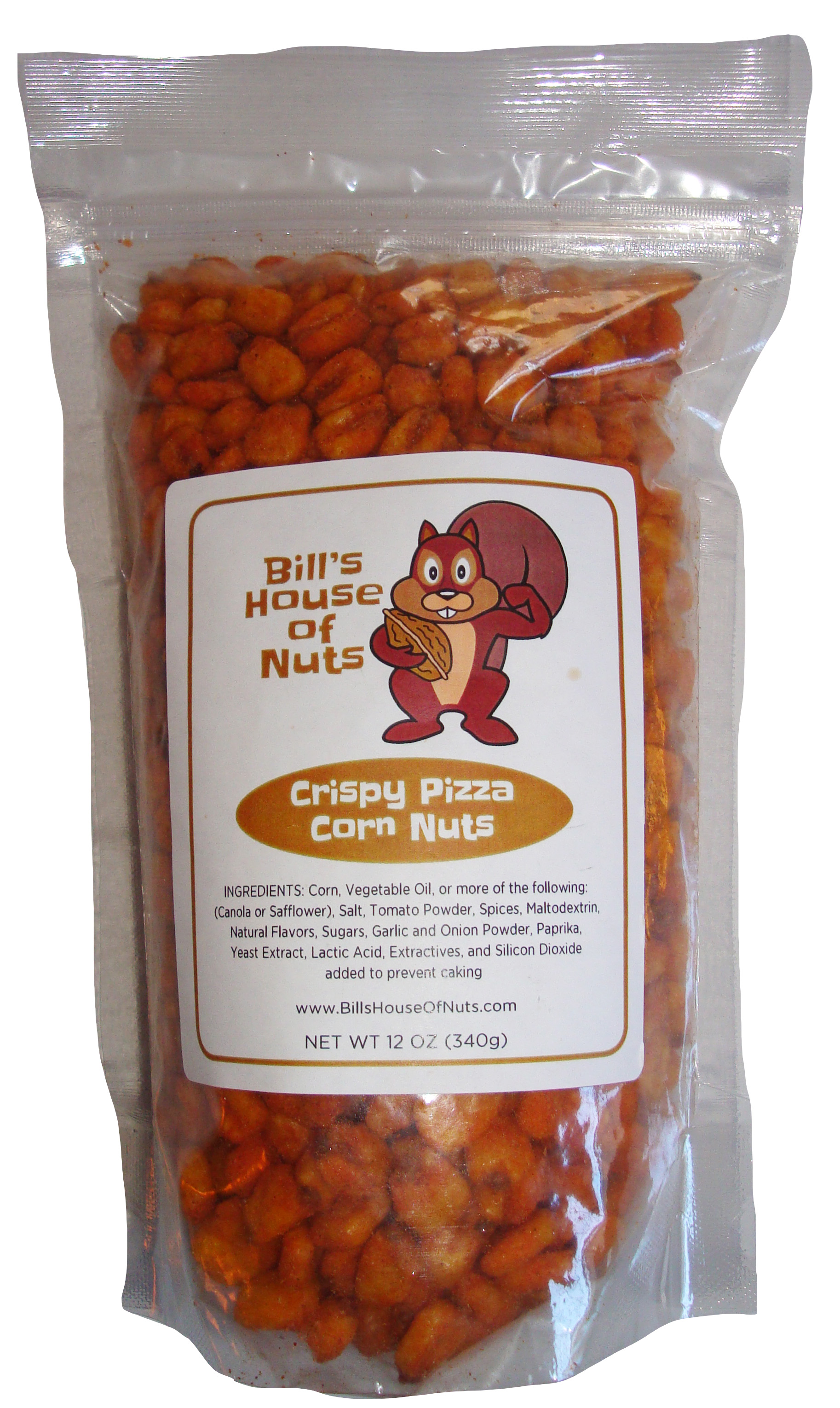 Crispy Pizza Corn Nut Snack - 8oz 12oz 28oz bags